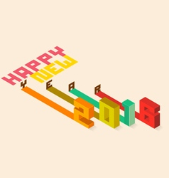 Happy New Year 2016 Isometric styler vector image vector image