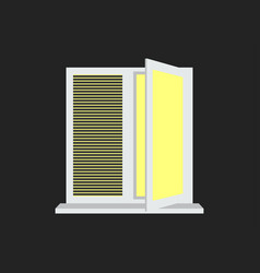 light from the open window with shutters vector image