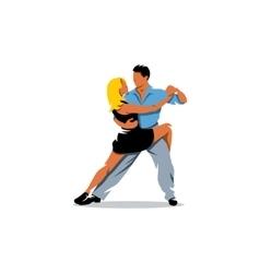 Two elegance tango dancers vector image vector image