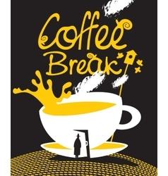 art coffee break vector image