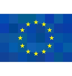 European union flag on unusual blue squares vector image vector image