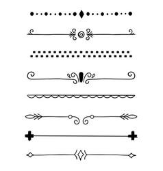 0010 hand drawn dividers vector image