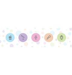 5 speak icons vector