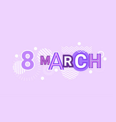 8 march international women day web banner vector