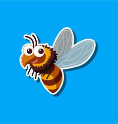 a bumblebee sticker template vector image