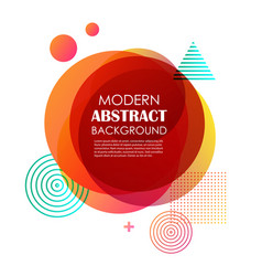 abstract red gradient geometric pattern design vector image