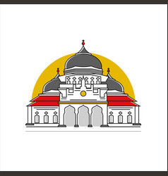 Aceh capital mosque image vector