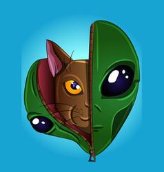 Alien kitty vector