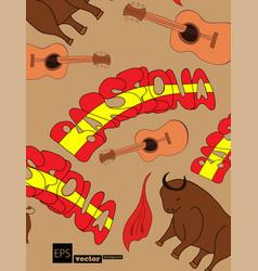 Alphabet in style spanish artist vector