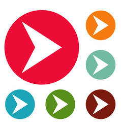 Arrow icons circle set vector