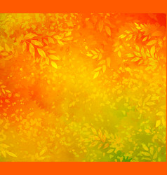 autumn background with leaves and branches vector image