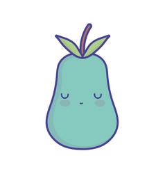 avocado character cartoon food cute flat style vector image