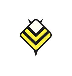 bee logo design template linear geometric style vector image