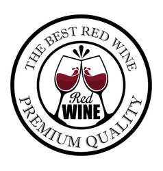 Best wine cups seal stamp vector