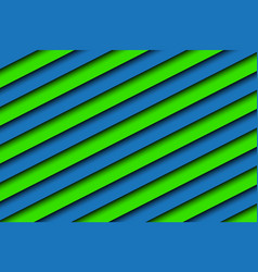 Blue and green abstract background with stripes vector