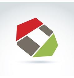 Bright complex geometric corporate element created vector
