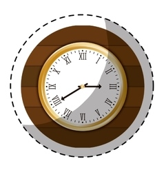 Brown wall clock icon image vector