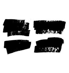 Brush strokes paintbrushes set grunge vector