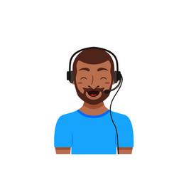 Call center customer support phone operator vector