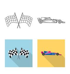 Car and rally symbol set vector
