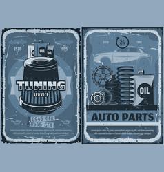car reapair tuning service auto parts air filter vector image