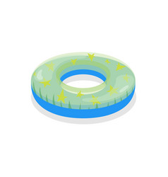 cartoon color swimming ring toy on a white vector image