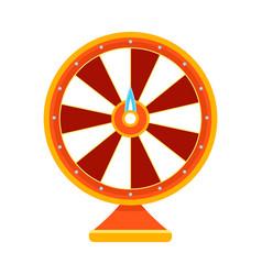 cartoon wheel fortune lottery design element vector image
