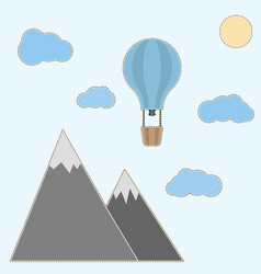 Childrens for creativity a balloon in the clouds vector