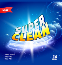 cleaning and detergent product packaging concept vector image
