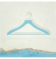 Clothes hanger vector