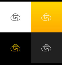cloud logo with letter s linear logo the letter s vector image