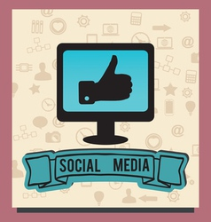 Concept socilal media with background icons vector