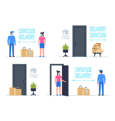 Contactless delivery vector