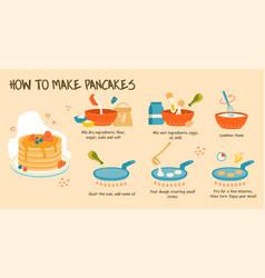 Cooking delicious pancakes vector