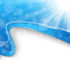 Cute winter brochure with snowflakes vector image