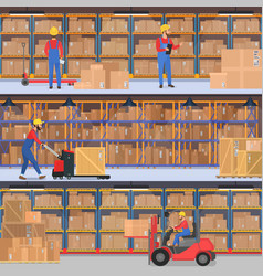 delivery warehouse freight transportation vector image