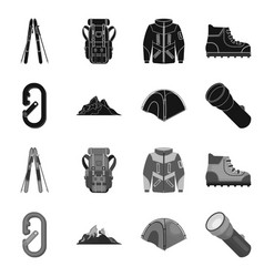 Design of mountaineering and peak logo set vector