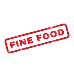 Fine Food Text Rubber Stamp vector image