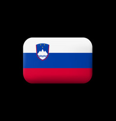Flag of slovenia matted icon and button vector