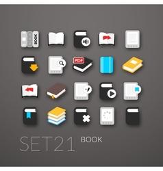Flat icons set 21 vector