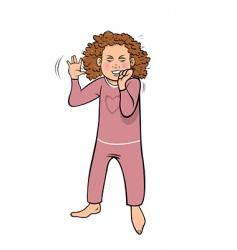 Girl temper tantrum vector