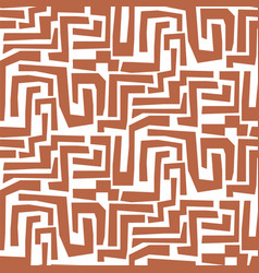 hand drawn mosaic maze shapes abstract cuttings vector image
