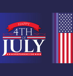 happy 4th july usa independence day design vector image