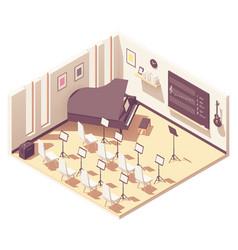 isometric school music classroom vector image