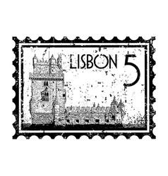 Lisbon icon vector