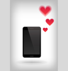 love on phone vector image