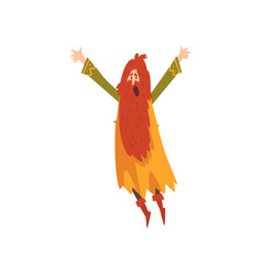 Male sorcerer redhead bearded wizard character vector