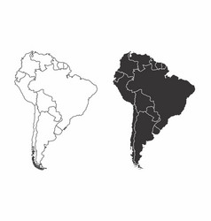 Maps of the south america vector