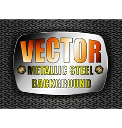 Metallic steel vector image