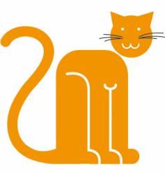 Orange cat vector